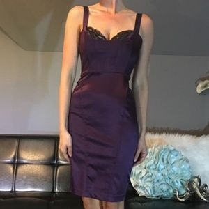 Bebe purple flirty mini dress